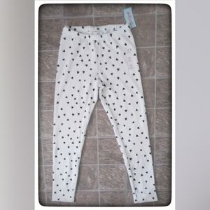 Cat & Jack Black & White Heart Joggers Sz 2X NWT